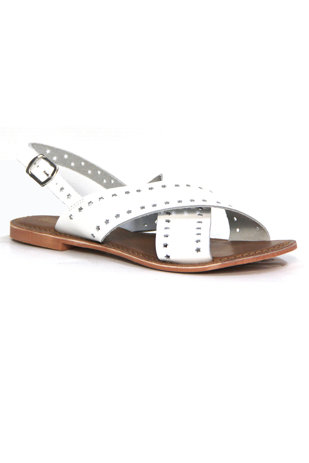Just Because Malita Sandal in White