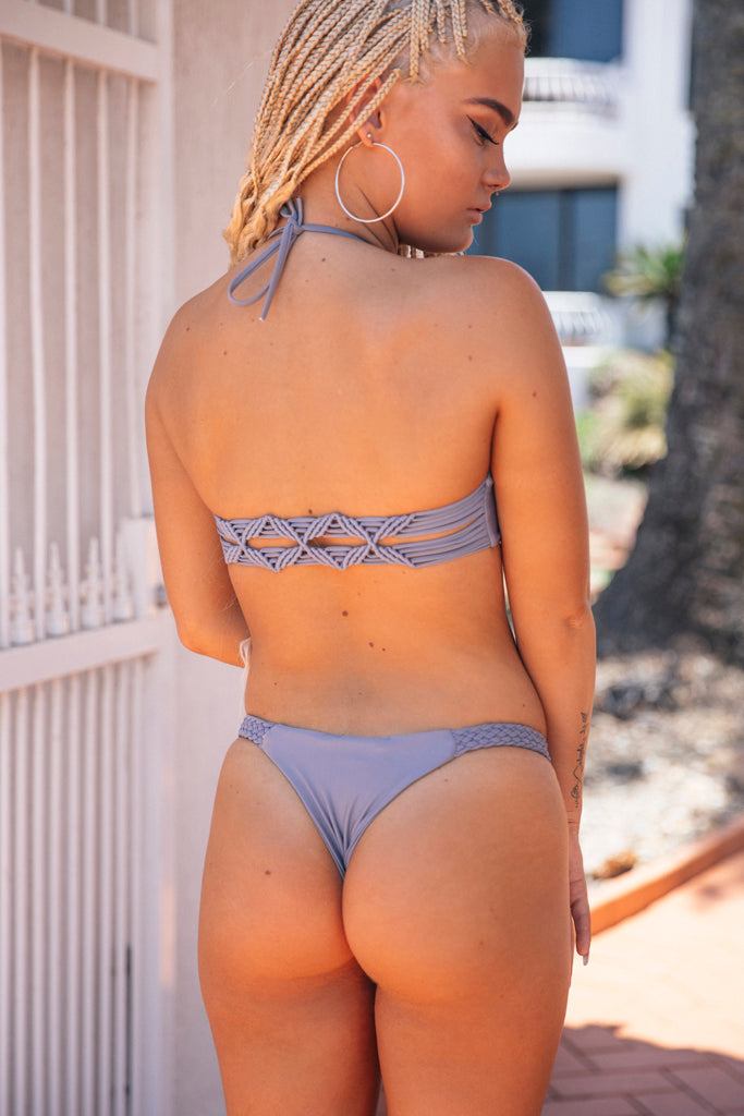 Smoking Mirrors Bikini Top Grey