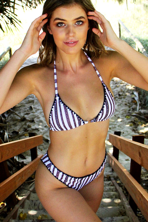 South Pacific Stripe Bikini top