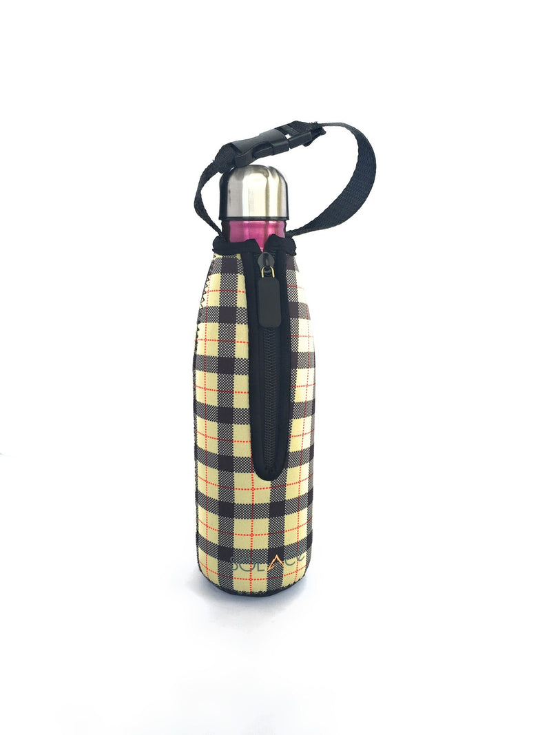 Plaid Bottle Carrier for S'well Bottles, 17 oz