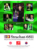 "Strachan ""6811 Tournament 30 oz"" Snooker Cloth (12ft x 6ft)"