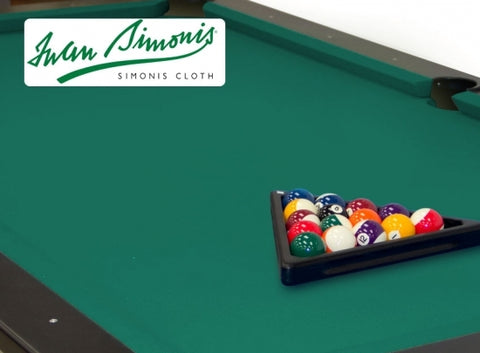 Simonis 760 Blue Green 9ft Pool Table Cloth