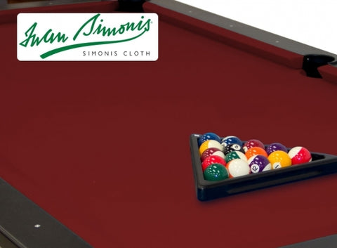 Simonis 760 Burgundy 9ft Pool Table Cloth