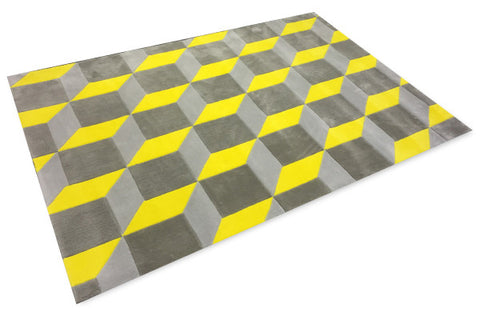 Ministry of décor Mirage 3D Carpet (Yellow) - CentrumLeisure