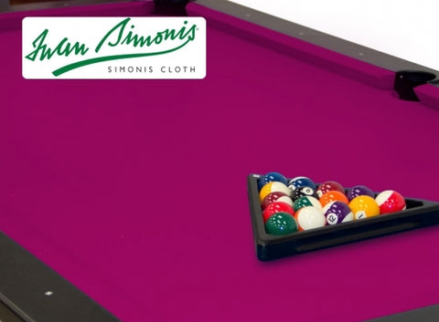 Simonis 760 Fuchsia 9ft Pool Table Cloth