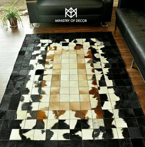 Ministry of décor 100% natural cowhide carpets ( Style 2 ) - CentrumLeisure