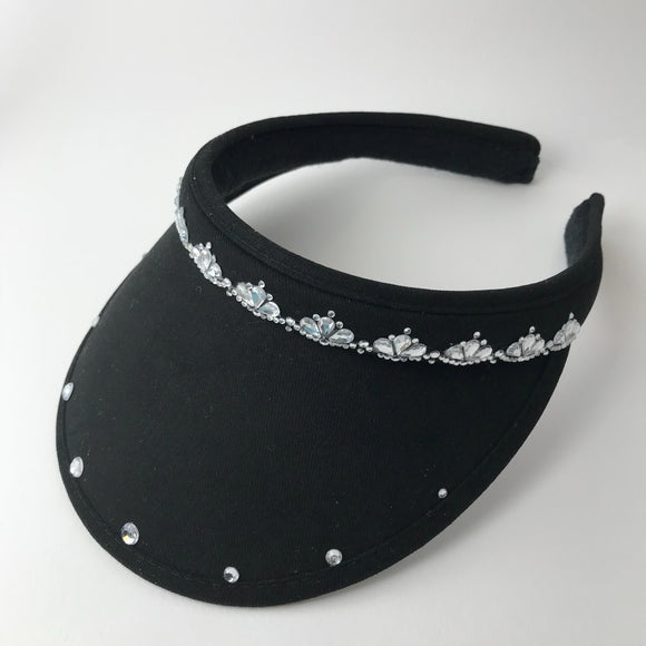 Ladies' Golf Visor with bling and diamante gems, clip-on
