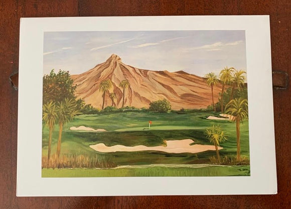 golf greeting card, print from watercolour painting, thinking of you card, birthday card, A5