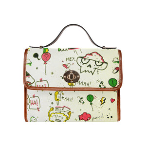 Pizza party Waterproof Canvas Bag/All Over Print (Model 1641)