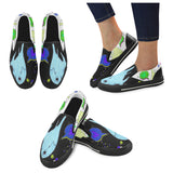 Fire spirits black&white Slip-on Canvas Shoes for Kid