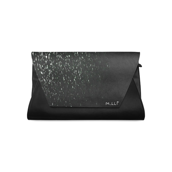 Black drops Clutch Bag