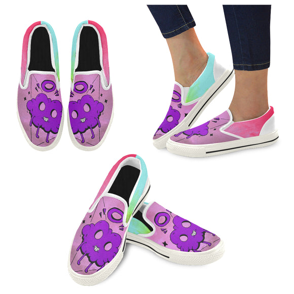Colorful clouds Slip-on Canvas Shoes for Kid