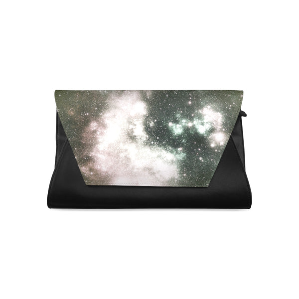 Space black Clutch Bag