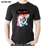 We Can Do It Unicorn Short Sleeve Cotton T-Shirt
