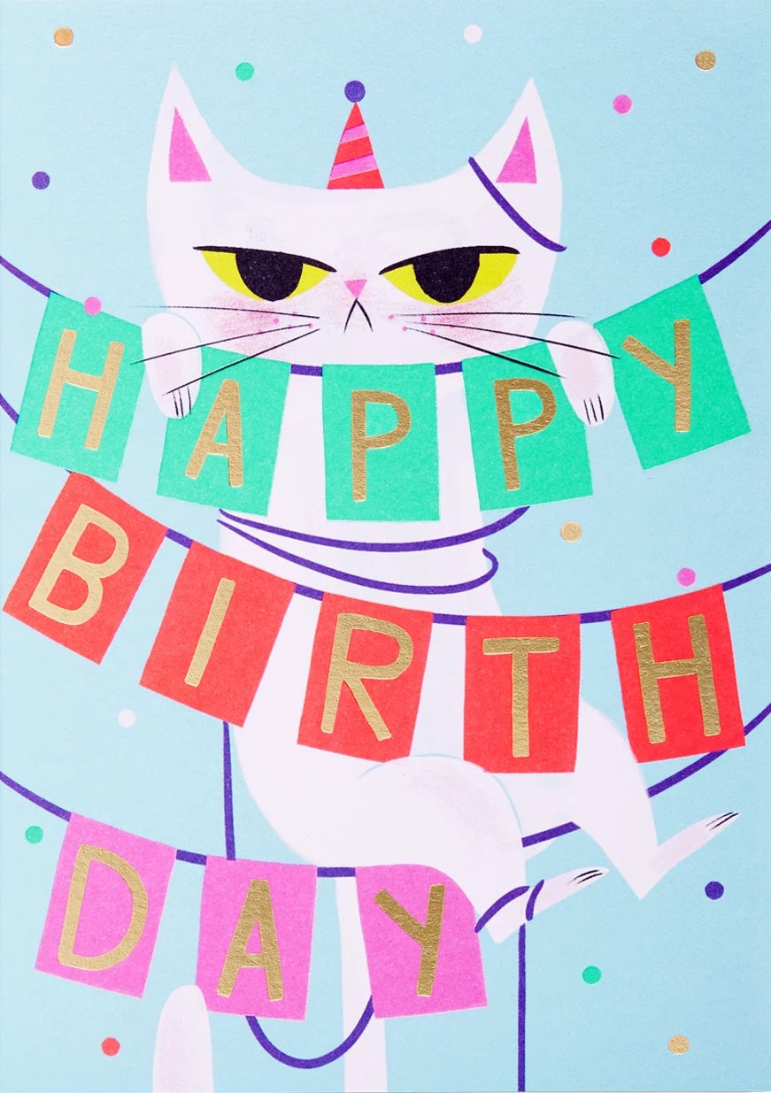 BIRTHDAY BANNER CAT