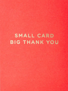 SMALL CARD BIG THANK YOU