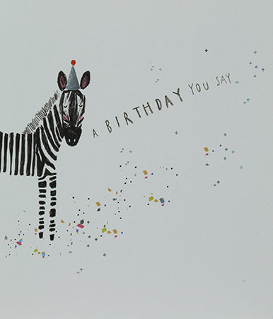 PARTY HAT ZEBRA