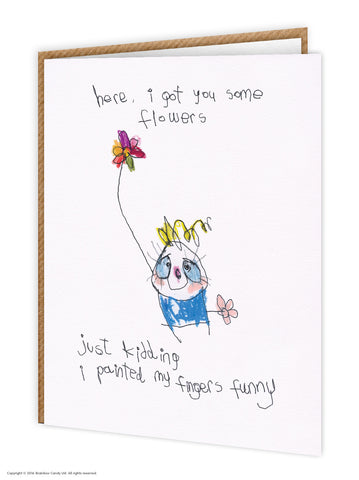 Here Some Flowers Birthday Card