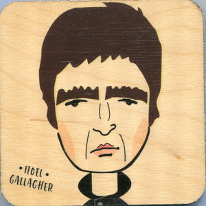 Noel Gallagher Character Wooden Coaster