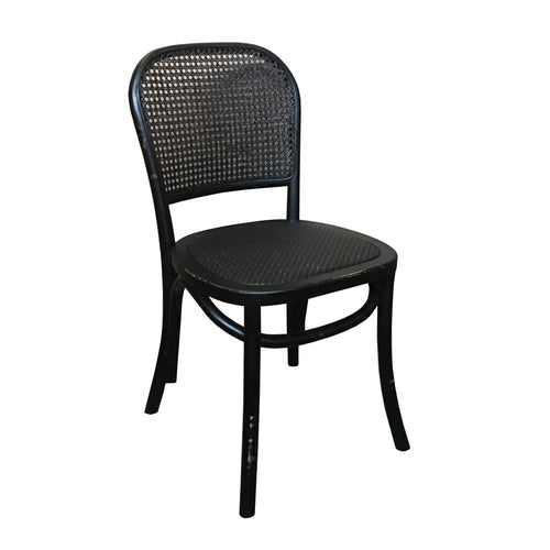 Bahamas Cane Chair - Black