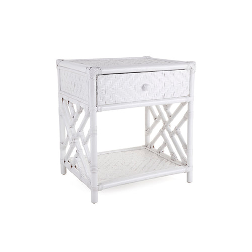 Westcliff 1 Drawer Side Table - White