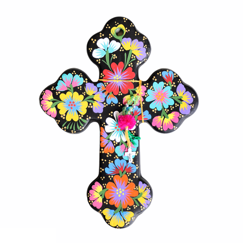 Fleur Cross Black - Large