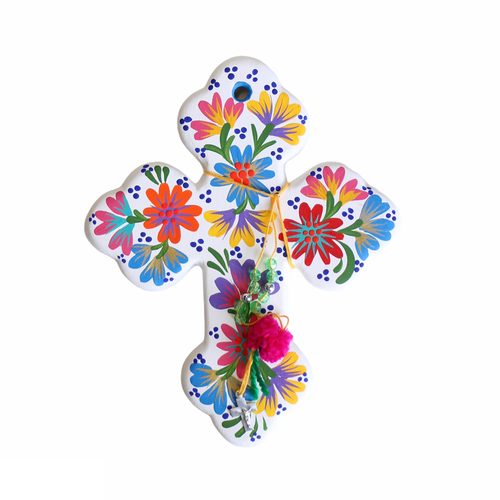 Fleur Cross White - Small