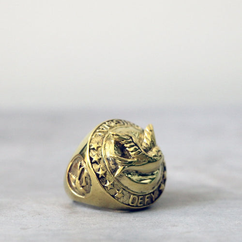 Swallow Coin Brass Ring