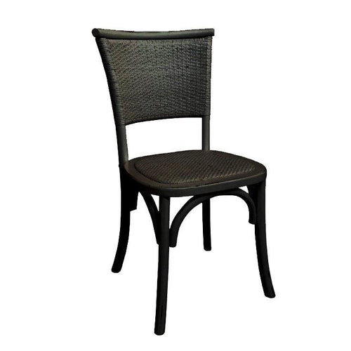 Hyatt Rattan Chair - Black