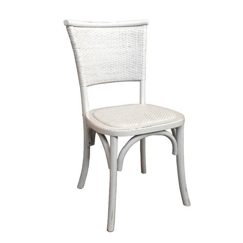 Hyatt Rattan Chair - White