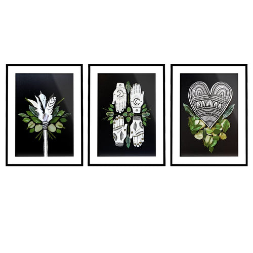 Botanical Heart Print