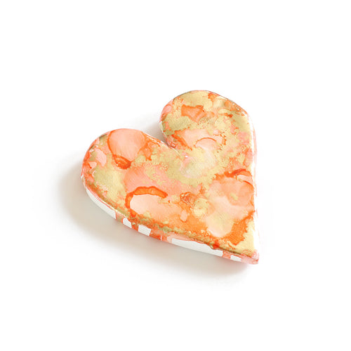 Coral Ripple - Mini Heart
