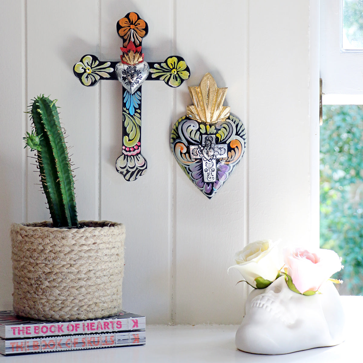 Fiesta Painted Wall Cross