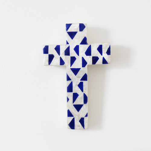 Alcatraz Capiz Wall Cross