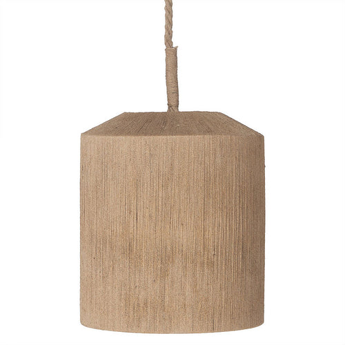 Bella Barrel Jute Pendant - Uniqwa