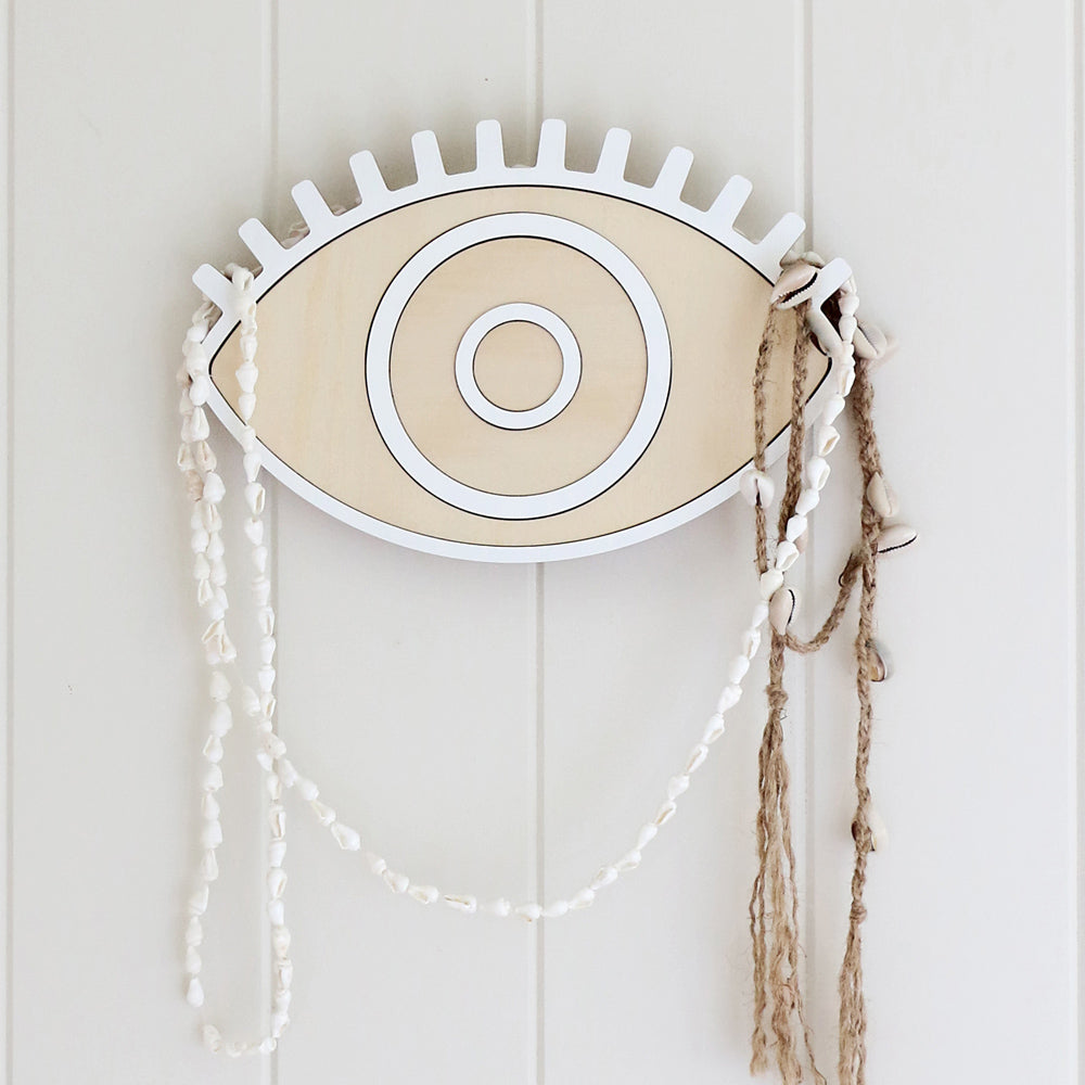 Evil Eye Wood Wall Hanging