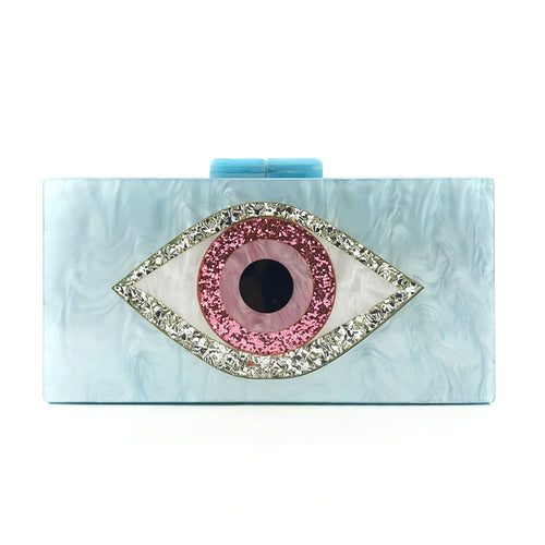 Evil Eye Clutch - Ice