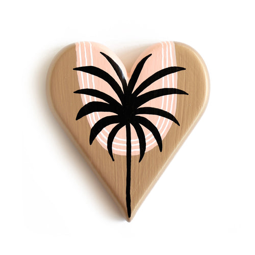 Malibu Palm Silhouette - Mini Heart