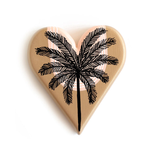 Malibu Palm Sketch - Mini Heart