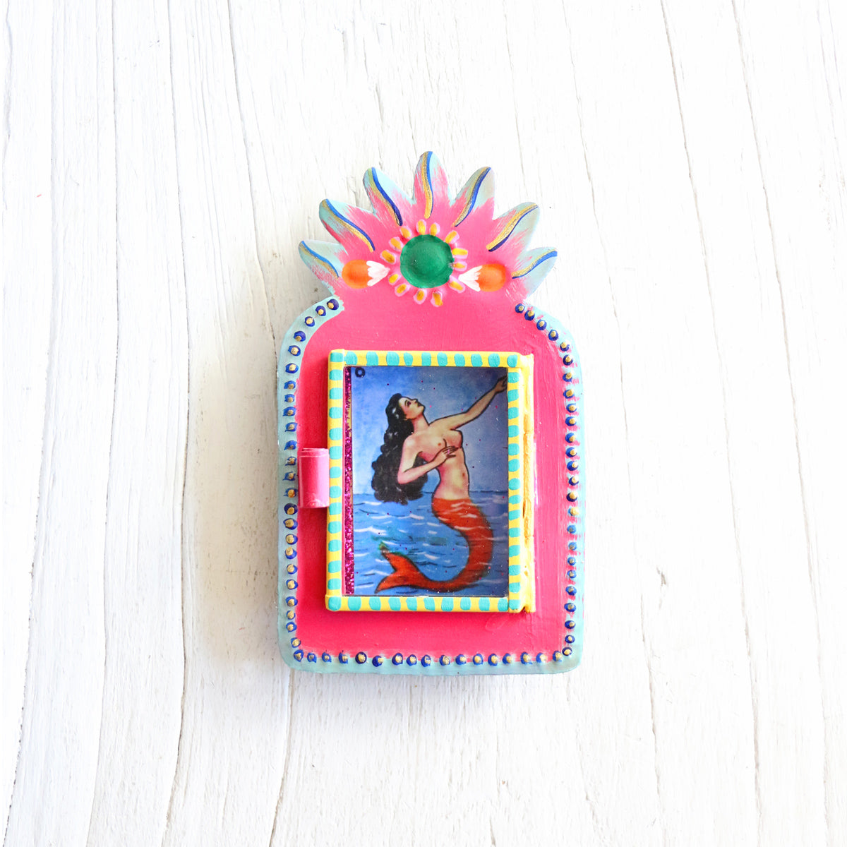 Sunset Mermaid Mini Shrine - Pink