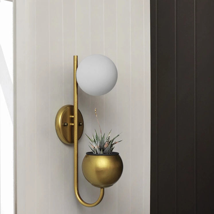 Kirra Wall Light Planter