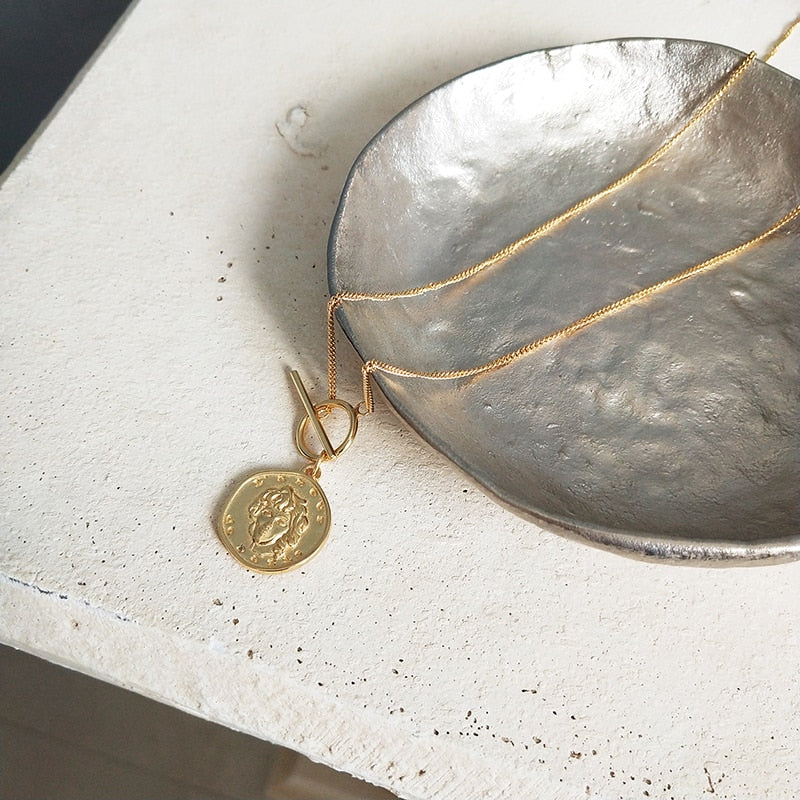 Lucia Coin Fob 925-SS Necklace