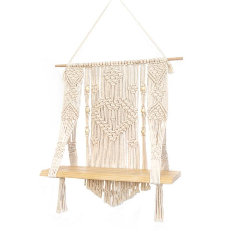 Isla Hanging Macrame Wall Shelf