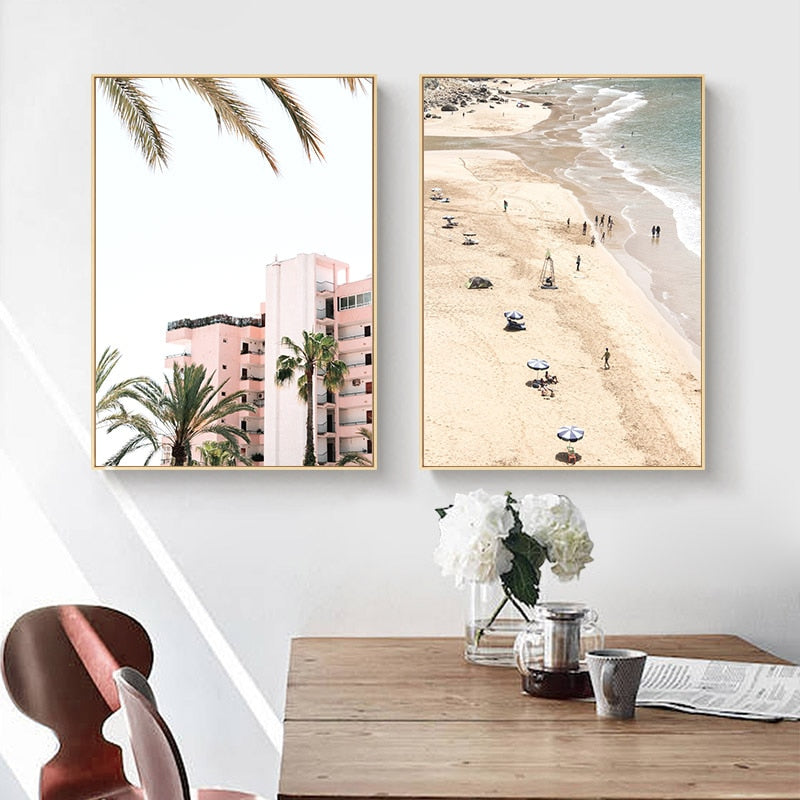 Cali Beach Canvas Art Print