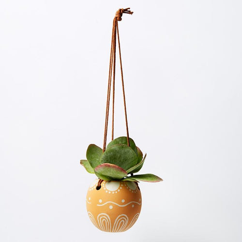 Poppy Hanging Planter - Mustard
