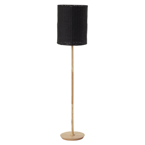 Albany Rattan Floor Lamp - Black