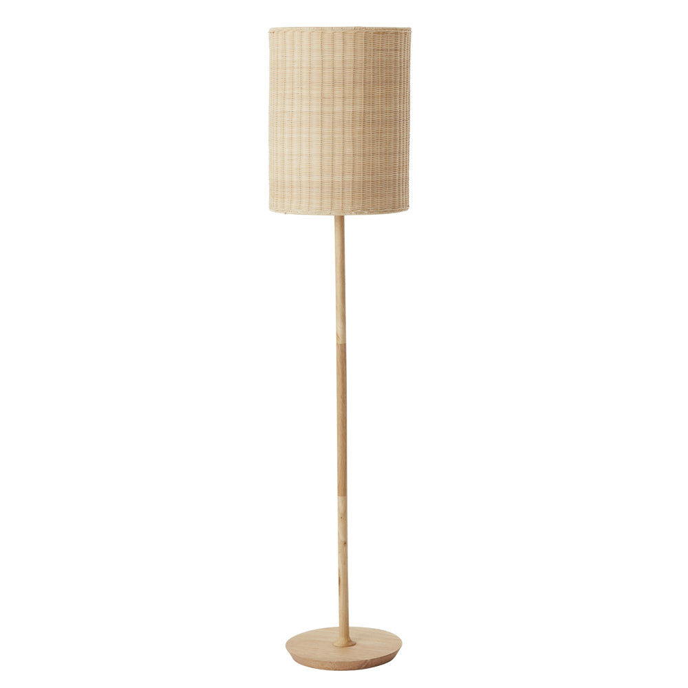Albany rattan floor lamp natural