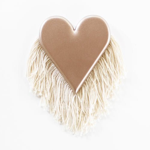 Rosè Fringe - Mini Heart