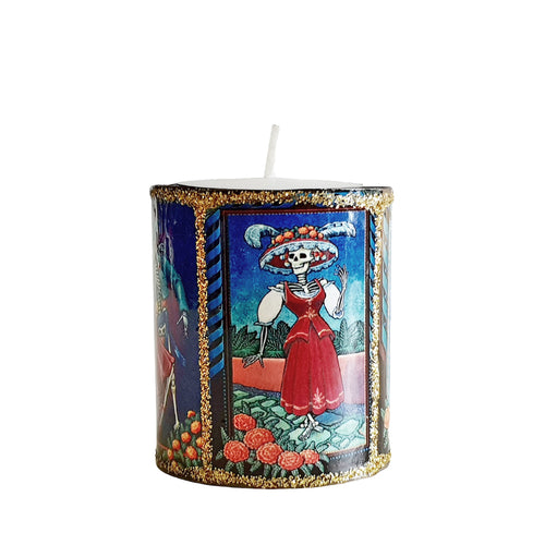 Altar Mini Candle - Day Of The Dead