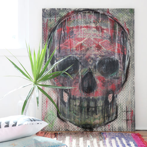 Candy Skull Mixed Media
